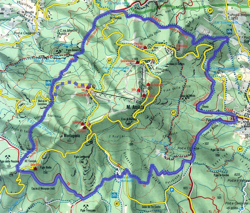 Monte Amiata Cartina